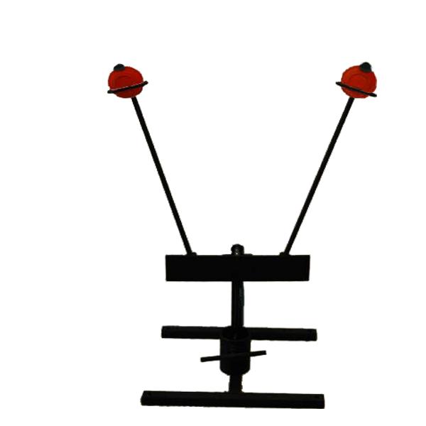 Swinging target holders